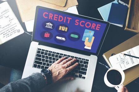Kreditní skóre Finance Cash Flow Concept