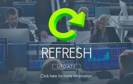 renew: Refresh Restart Beginning Renew Concept Stock Photo