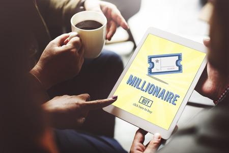 hombre millonario: Concepto Premio Logro de negocios millonario de lujo