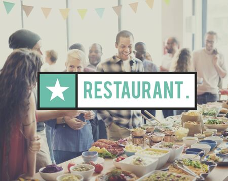 cafeteria: Restaurant Buffet Cafeteria Cuisine Culinary Concept
