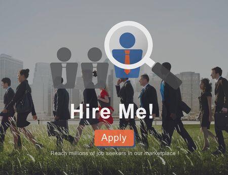 Engagez-moi Demande d'emploi Concept d'emploi Banque d'images