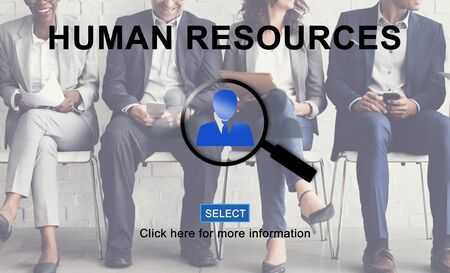 headhunting: Human Resources Hiring Occupation Headhunting Concept