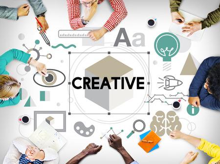 team strategy: Creative Ideas Design Imagination Invention Concept Stock Photo