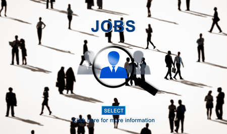 employing: Jobs Career Employment Hiring Occupation Work Concept