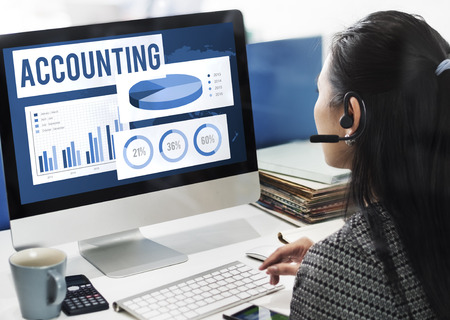auditing: Acounting Auditing Balance Bookkeeping Capital Concept