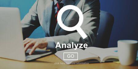 analyze: Analyze Information Insight Connect Data Website Concept