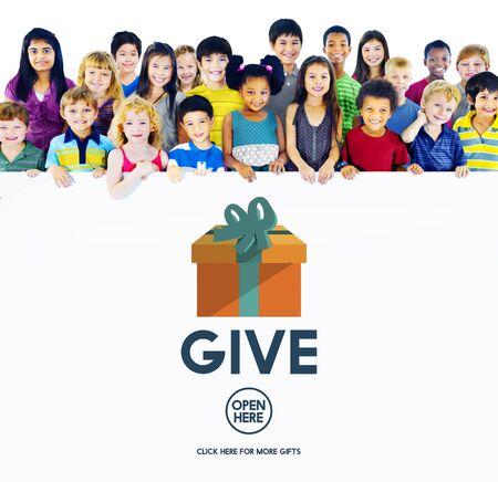generosity: La generosidad dan Donate Giving concepto de ayuda Soporte Foto de archivo