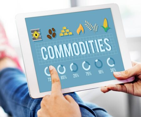 commodities: Demandan bienes Concepto de la economía Distribución