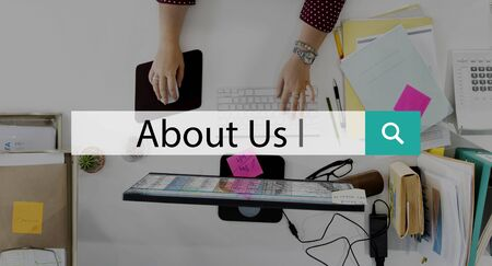 about us: About Us Communication Contact Information Concept
