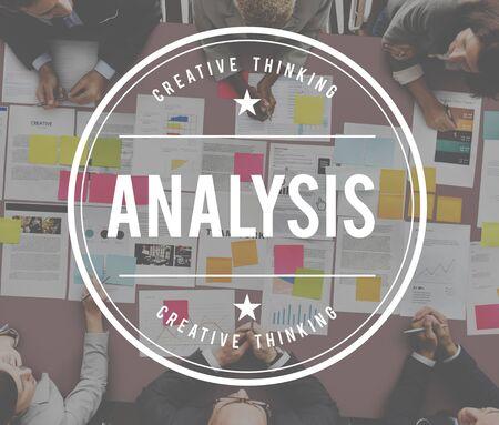 reseach: Analysis Data Information Insight Plan Process Concept Stock Photo