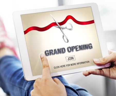 join: Grand Oppening Ceremony Business Join Concept