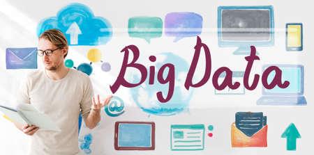 shared sharing: Big Data Cloud Digital Information Technology Concept
