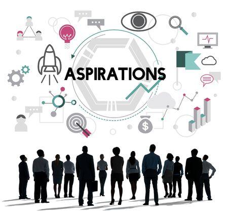 ambition: Aspirations Ambition Desire Goals Target Expectation Concept Stock Photo