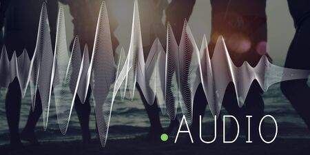 reproduced: Audio Listening Noise Sound Wave Technology Concept