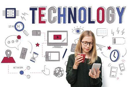 Technologie Innovatieve Digital Evolution Innovation Concept Stockfoto