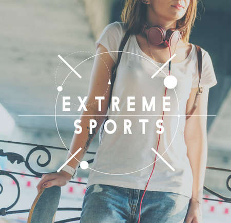 extreme danger: Extreme Sports Excitement Height Danger Concept