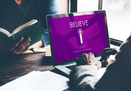 creer: Cree la fe de confianza de fidelización mentalidad de Confianza Concepto