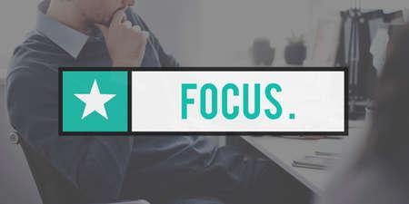 determine: Focus Determine Concentration Focusing Clartiy Concept Stock Photo