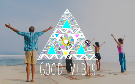 Good Vibes Positive Thinking Optimistic Concept Imagens - 58643772