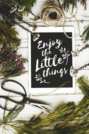 decorate: Enjoy The Little Things Tablet Decorate Concept