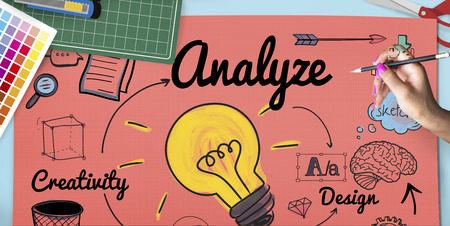 Designer with analyze creative ideas concept