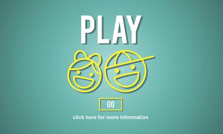 children play area: Play Fun Amusement Happiness Activity Playground Concept Stock Photo