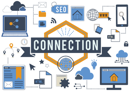 interconnection: Connection Communication Digital Networking Concept