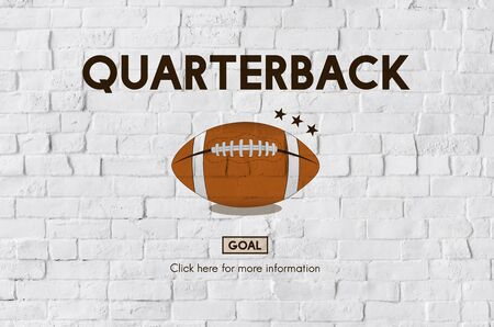 quarterback: Quarterback Physical Education Rugby Sport Concept Stock Photo