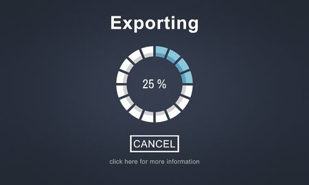 convert: Exporting Convert Loading Progress Concept