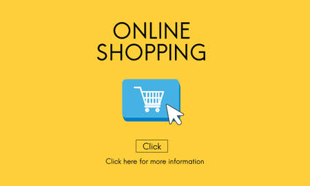 commerce: Online Shopping Commerce E-business Concept
