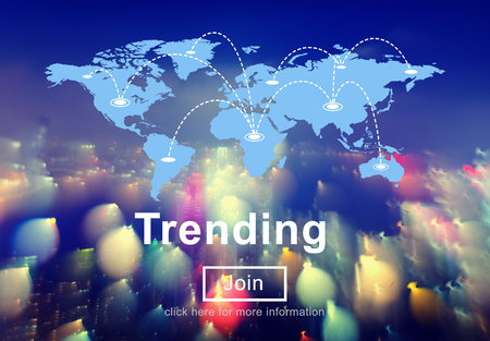 trending: Trend Trending Marketing Popular Style Daily Concept Stock Photo