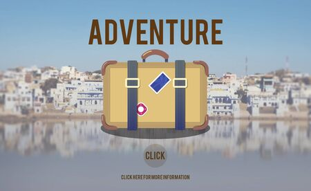 backpacking: Adventure Backpacking Travel Destination Wander Concept Stock Photo