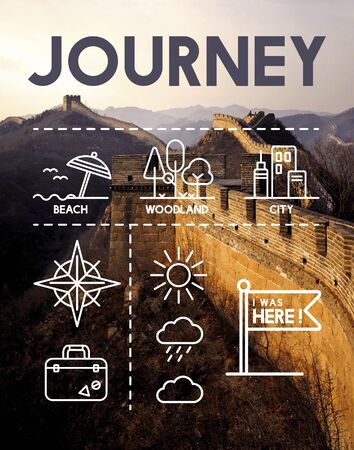 world cultural heritage: Location Mapping Journey Navigation Concept Stock Photo