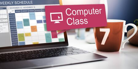 computer science class: Computer Class Network Science Electronic Device Concept