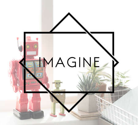 expect: Imagine Expect Robotic Dream Big Concept Stock Photo