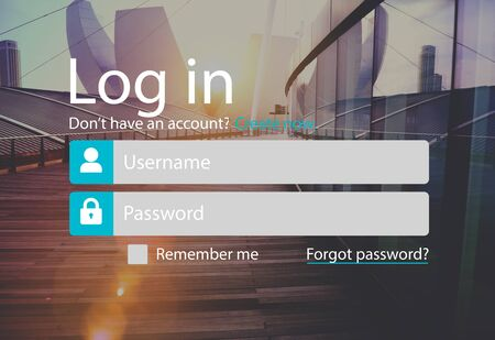 urban area: Log In Sign In Profile Page Concept Stock Photo