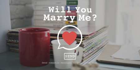 marry me: Will You Marry Me Valentine Romance Love Heart Dating Concept Stock Photo