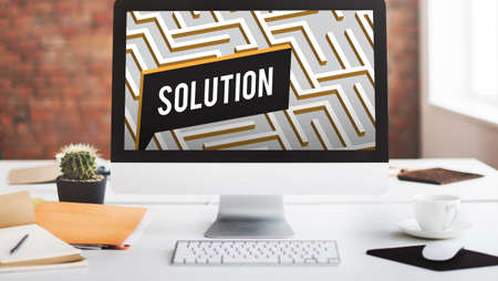 no way out: Solution Discovery Complexity Decision Concept Stock Photo