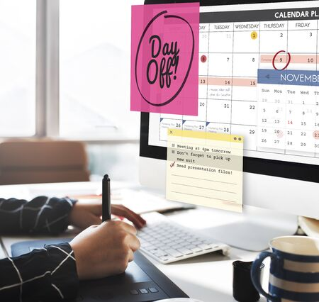 day off: Day Off Free Time Relax Vacation Holiday Schedule Concept