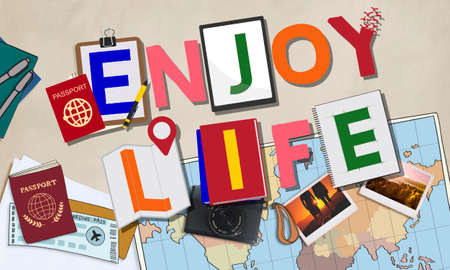 enjoy life: Enjoy Life Fun Happiness Relaxation Concept