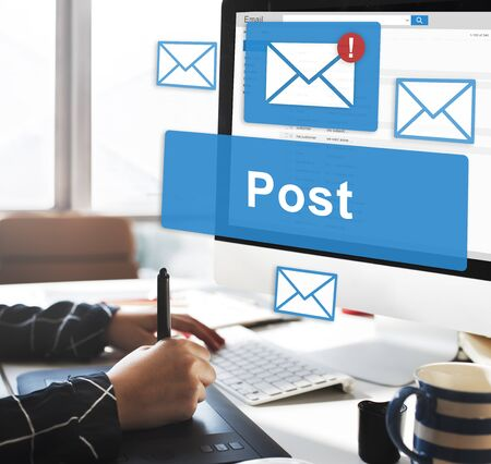 opinion: Post Content Internet Mail Opinion Communication Concept