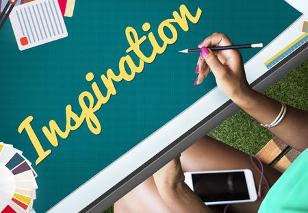 inspire: Inspiration Aspiration Imagination Inspire Dream Concept