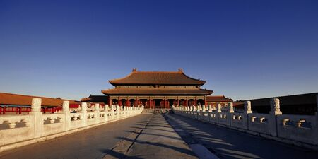enchanting: Forbidden City Enchanting Early Morning Asia Concept Stock Photo