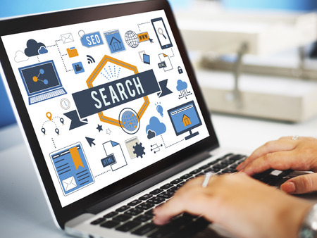 Internet search concept on laptop