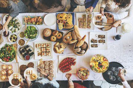 dessert buffet: Food Cuisine Culinary Buffet Party Concept