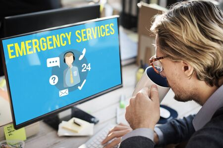 urgency: Emergency Services Urgency Helpline Care Service Concept