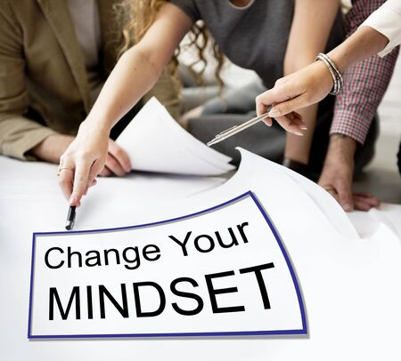 mindset: Change Your Mindset Attitude Focus Optimistic Concept