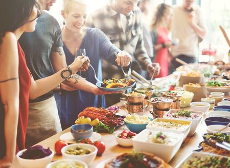 Almuerzo Choice Multitud Opciones culinarias Alimentación concepto de alimentación
