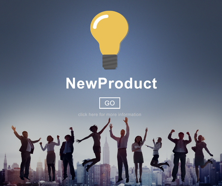 New Product Launch Marketing Commercial Innovation Concept Stock Photo