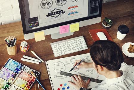 Idées Creative Occupation Design Studio Dessin Concept de démarrage